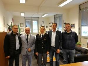 09.11.2017 L'DP con la Dirigente Polstrada di Bergamo Dott.ssa Mirella Pontiggia