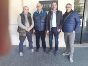 01.04.19 La Segreteria nazionale adp a Parma. In compagnia col Segr. Prov. Marino e il nuovo Segr. Regionale Emilia Romagna Taveri.
